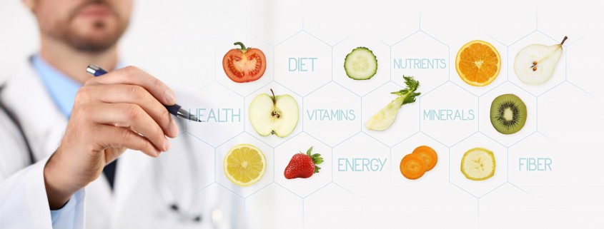 healthy food concept, Hand of nutritionist doctor pointing fruit with pen